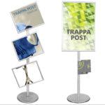 Snap-Frame Poster Stands! Versatile & Solid.